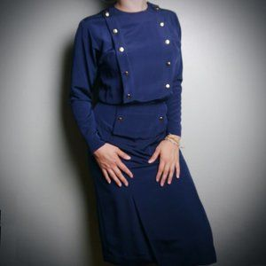 VINTAGE Navy Liz Claiborne Dress  | Size 4